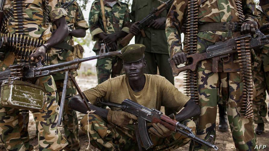 مقاتلون في جنوب السودان