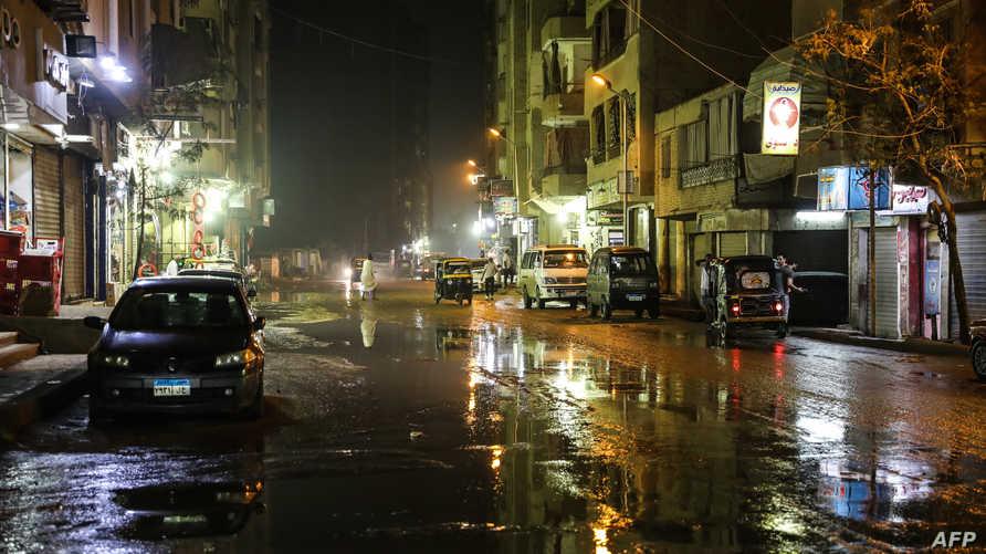 أمطار غزيرة في القاهرة