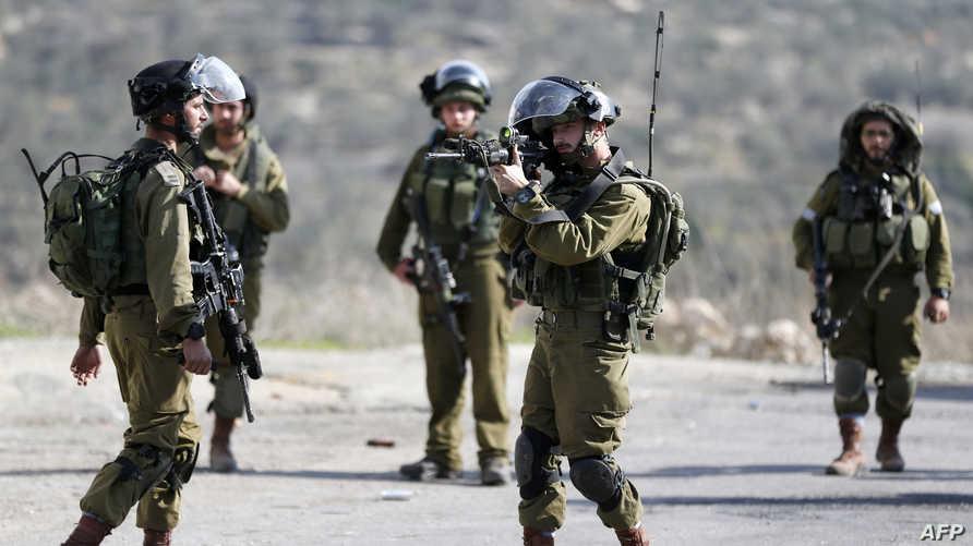 جنود إسرائيليون خلال مواجهات مع متظاهرين فلسطينيين في الضفة- أرشيف