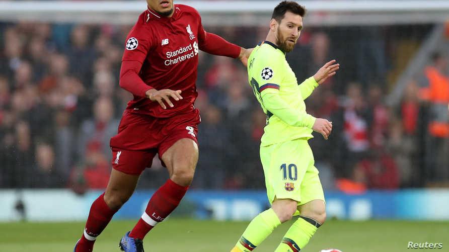 برشلونة خرج على يد ليفربول من دوري أبطال أوروبا الموسم الماضي