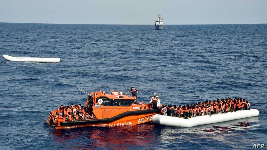 عملية إنقاذ قبالة سواحل ليبيا - أرشيف