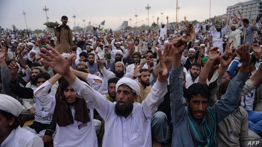 متظاهرون إسلاميون في باكستان