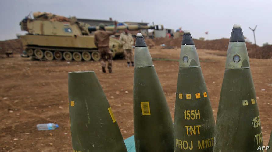 قوات عراقية مشاركة في عملية تحرير الموصل