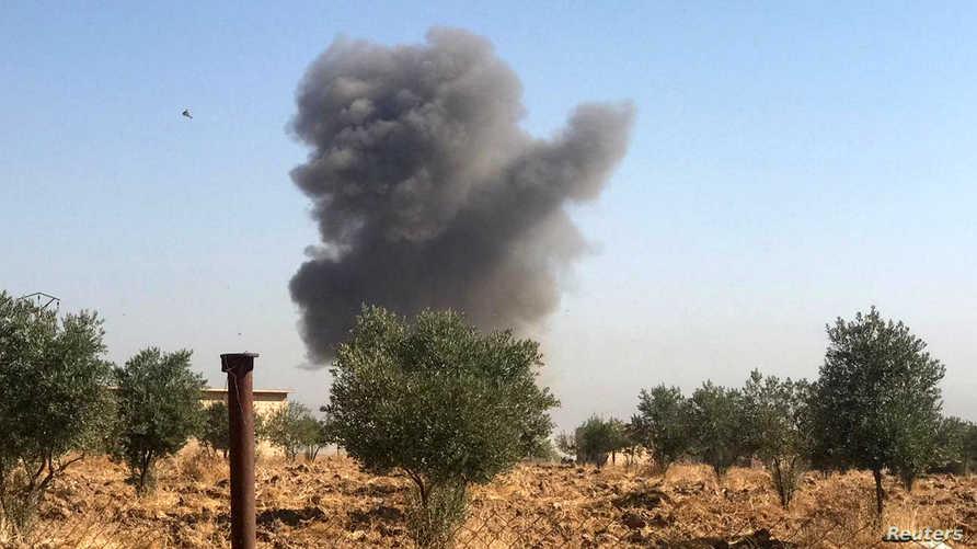 القصف استهدف سجنا وفق ما قالت قوات سوريا الديمقراطية.