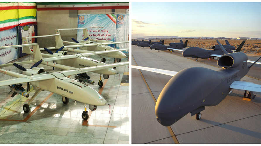 مقارنة بين سلاح الطائرات المسيرة الإيراني والأميركي