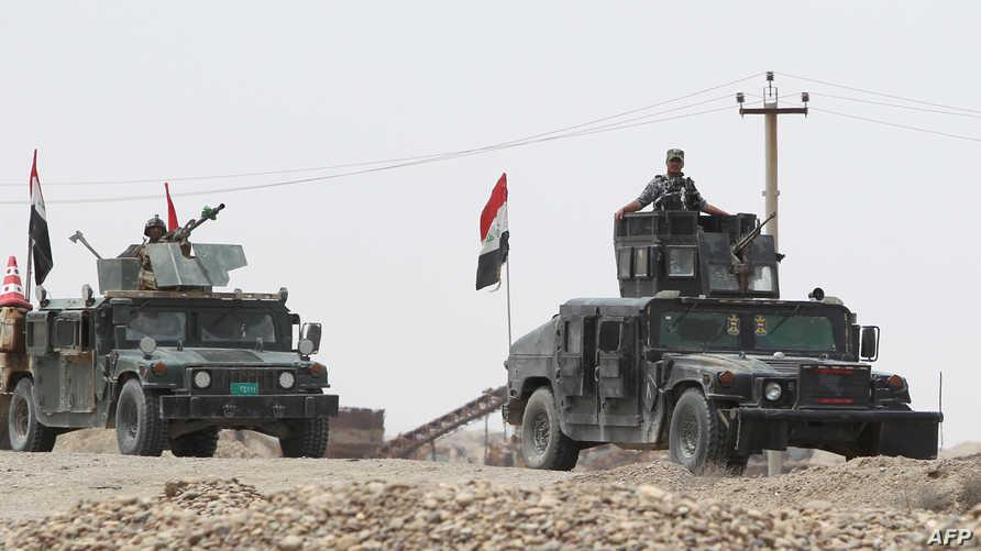 قوات عراقية خلال العملية العسكرية في الأنبار