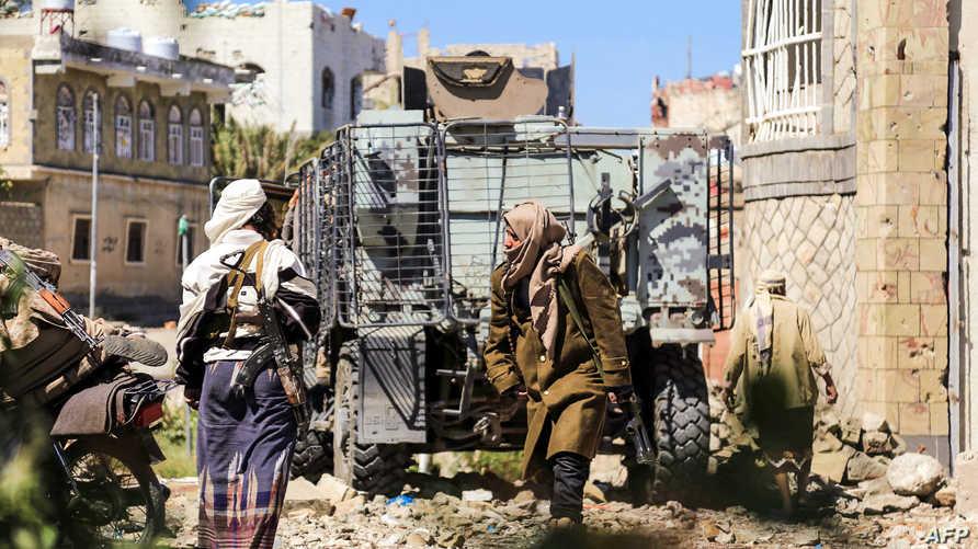 قوات موالية لهادي في تعز