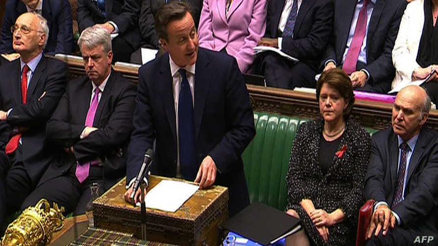 كاميرون خلال جلسة لمجلس العموم البريطاني