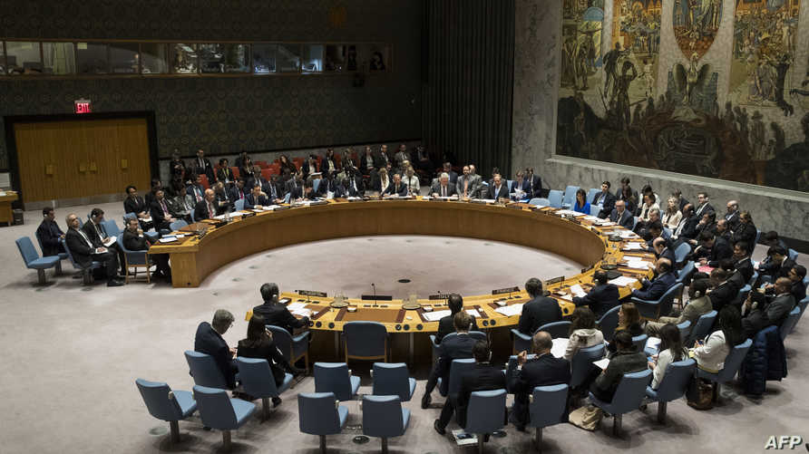 جانب من جلسة في مجلس الأمن حول سورية