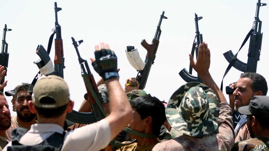 قوات عراقية قرب الفلوجة -أرشيف