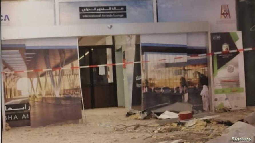 بعد سقوط الصاروخ على صالة القدوم في مطار أبها