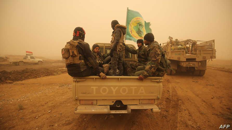 قوات من الحشد الشعبي غرب الموصل
