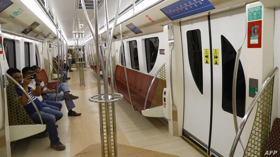 إحدى عربات مترو الدوحة