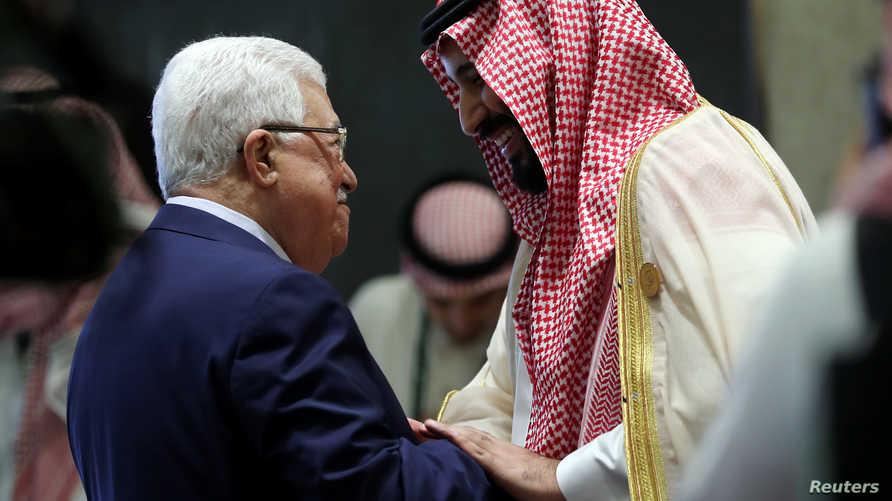 ولي العهد السعودي ورئيس السلطة الفلسطينية خلال القمة العربي الـ 29