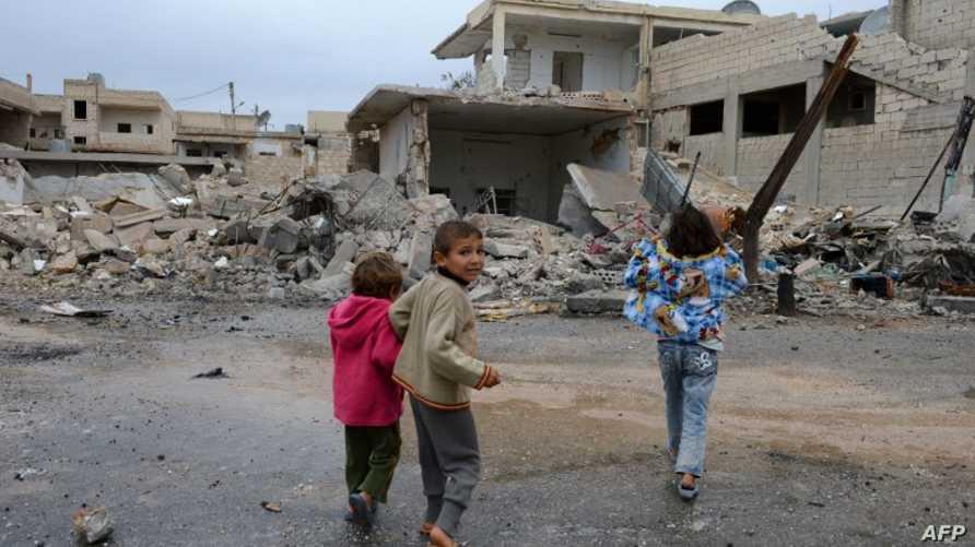 أطفال سوريون في إدلب