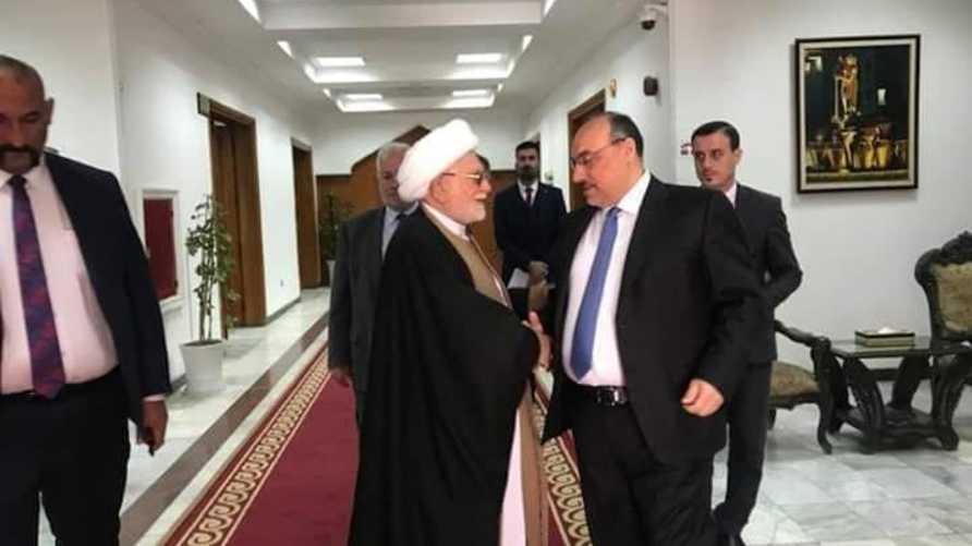 أبو جهاد الهاشمي في لقاء سابق مع القيادي في المجلس الأعلى محمد تقي المولى