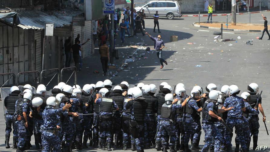 قوات الأمن الفلسطينية في رام الله في وضعية استعداد لمواجهة مسيرات مؤيدة لغزة