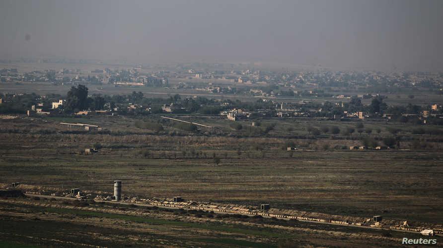 مشهد لمدينة البوكمال بمحافظة دير الزور - أرشيفية