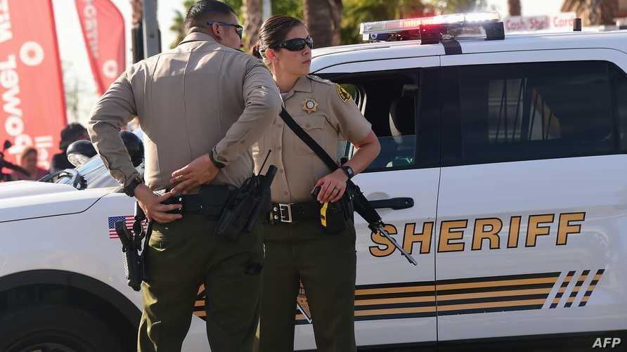 الشرطة الأميركية في موقع إطلاق نار وقع في مدينة سان برناردينو بولاية كاليفورنيا
