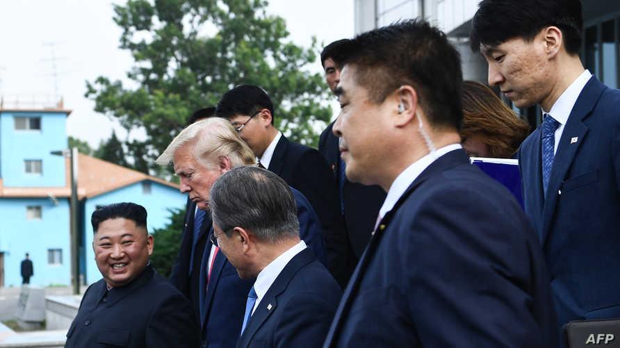 أمن كيم جونغ أون يرافقه خلال لقائه مع ترامب