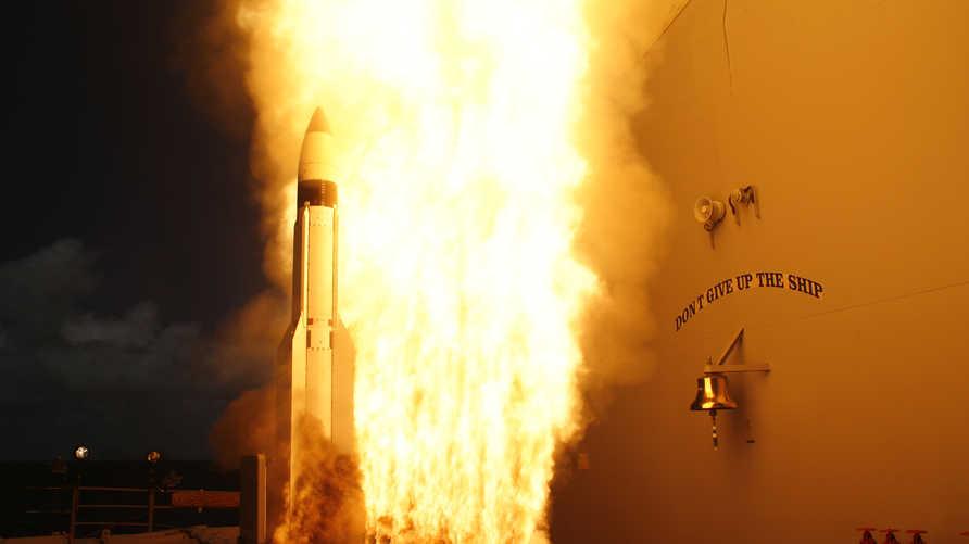 صاروخ SM-3 أثناء إطلاقه