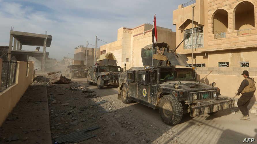 قوات عراقية داخل الرمادي