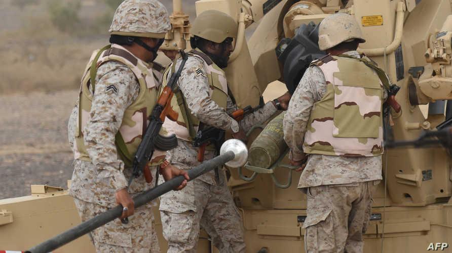 جنود سعوديون على الحدود اليمنية-أرشيف