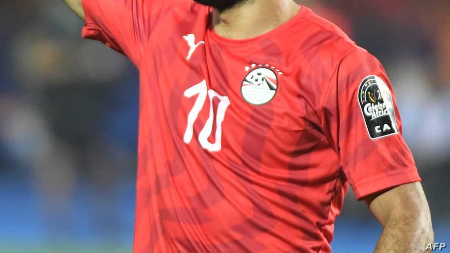 محمد صلاح خلال مباراة مصر مع جنوب أفريقيا