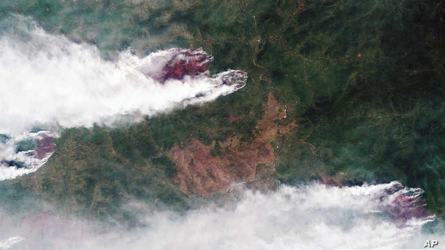 حرائق في غابات بشرق سيبيريا