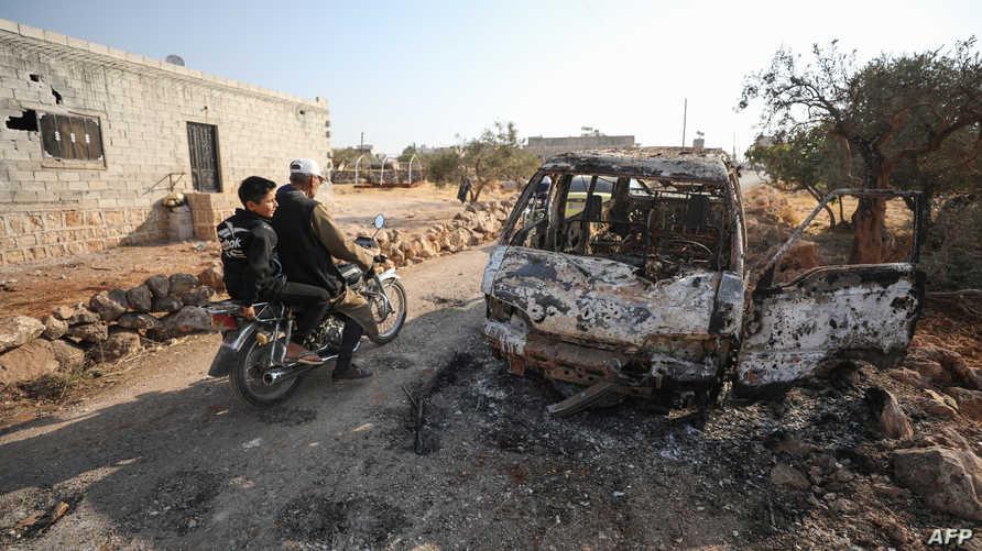 الموقع الذي استهدفته مروحيات بالقصف في قرية باريشا، حيث قتل 9 أشخاص من بينهم أبو بكر البغدادي حسب تقارير إعلامية