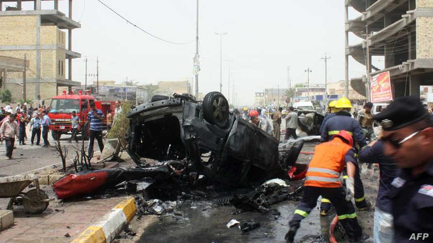 موقع تفجير سيارة ملغومة في الناصرية قبل يومين