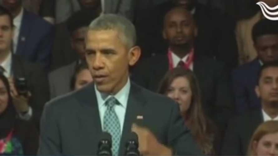 أوباما في حديثه إلى شبان بريطانيين في لندن