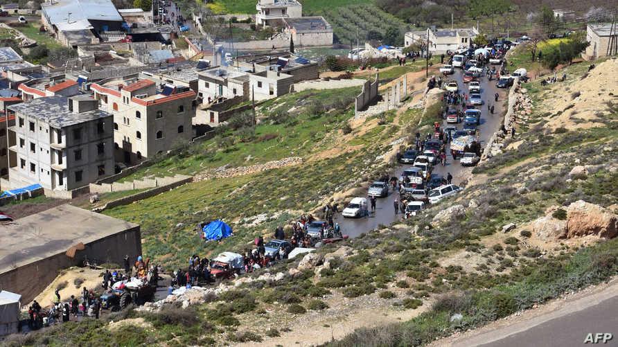 نازحون من بلدة عفرين شمالي سوريا-أرشيف