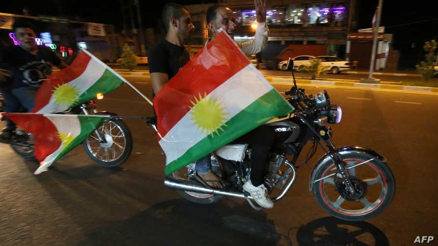 مؤيدون لاستقال كردستان في كركوك