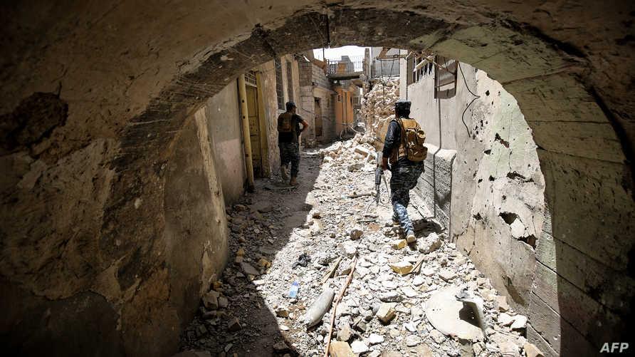 قوات عراقية في الموصل القديمة