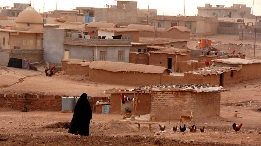 مشهد من إحدى قرى مدينة الموصل العراقية