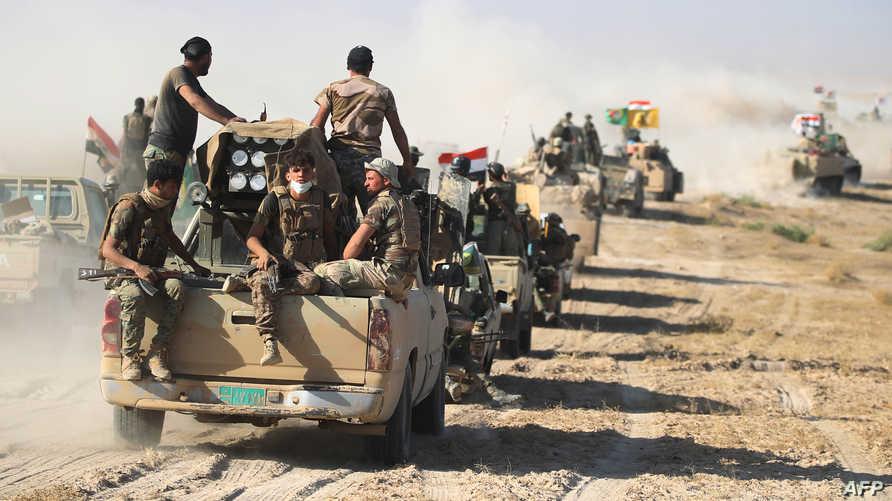 عناصر من قوات الحشد الشعبي في العراق - أرشيف