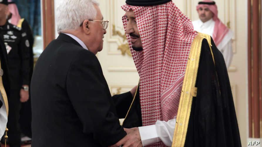 الملك السعودي ورئيس السلطة الفلسطينية خلال القمة العربية الأخيرة