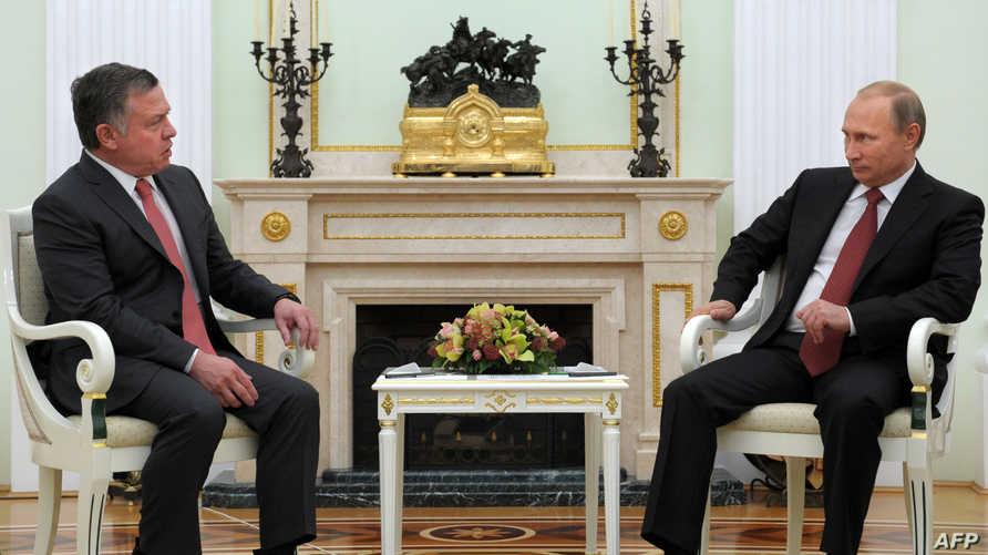 لقاء سابق بين بوتين وملك الأردن