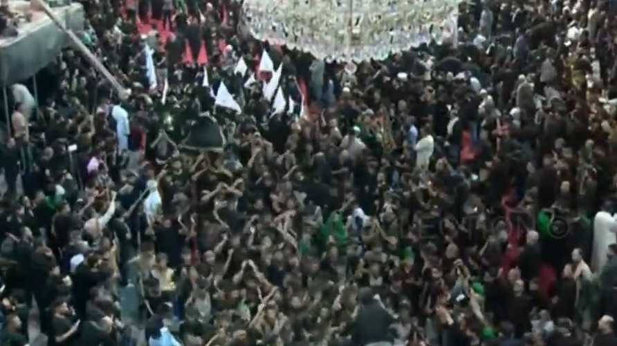 حشود في كربلاء لإحياء ذكرى الأربعينية