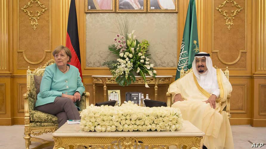 العاهل السعودي والمستشارة الألمانية