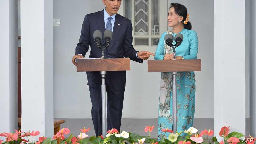 أوباما وسو تشي خلال لقاء سابق في البيت الأبيض