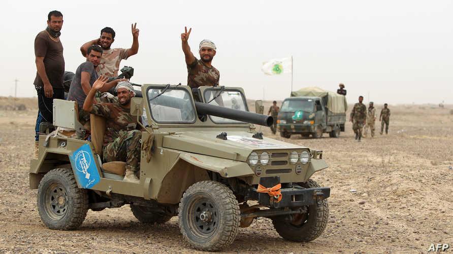 مقاتلو الحشد في إحدى مناطق الأنبار- أرشيف