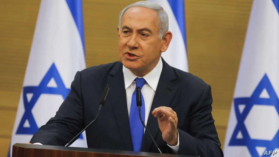بنيامين نتانياهو في مؤتمر صحفي الاثنين