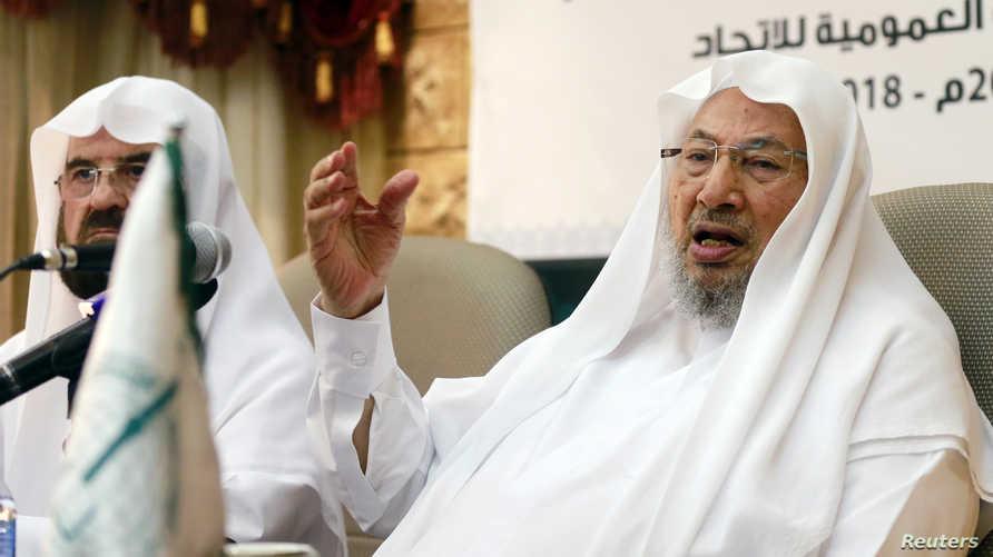 الشيخ يوسف القرضاوي، مؤسس الاتحاد العالمي لعلماء المسلمين في عام 2004، وظل يترأسه حتى عام 2014 حيث تم استبداله بالدكتور أحمد الريسوني