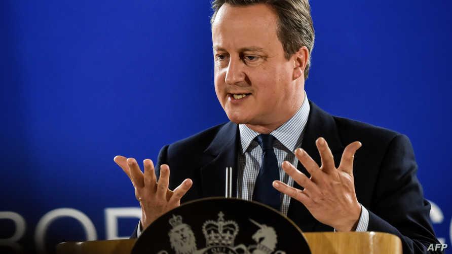 كاميرون في كلمة أمام زعماء الاتحاد الأوروبي