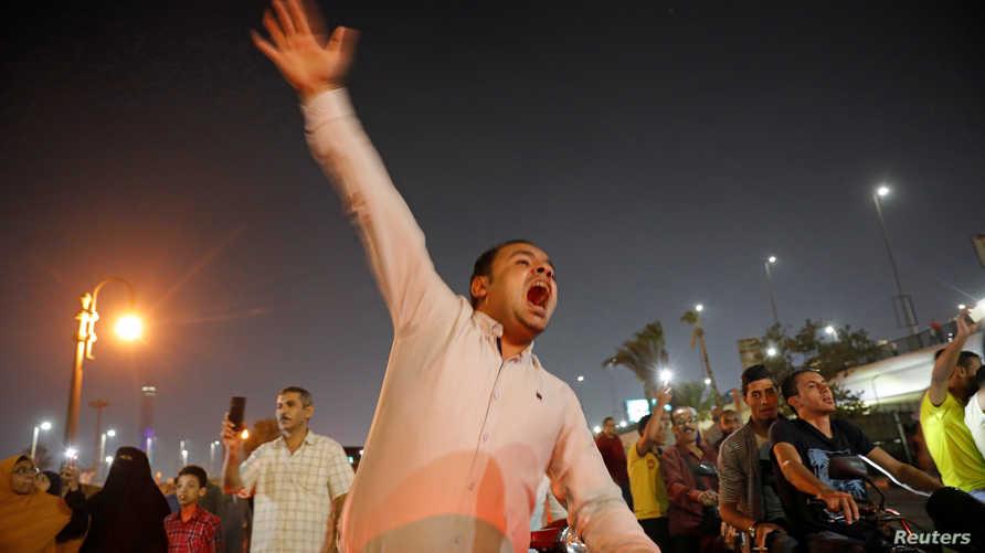 جانب من تظاهرة قرب ميدان التحرير - 20 سبتمبر 2019