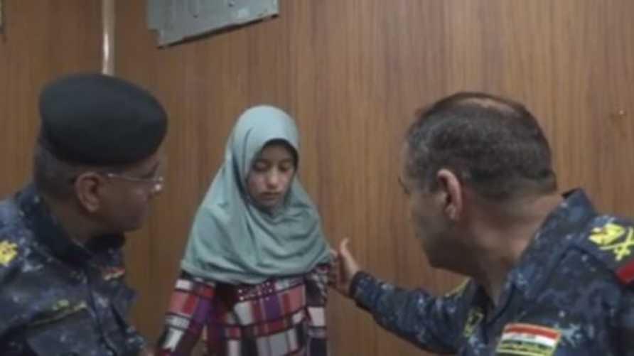 أفراح دخيل بعد تحريرها من قبضة داعش
