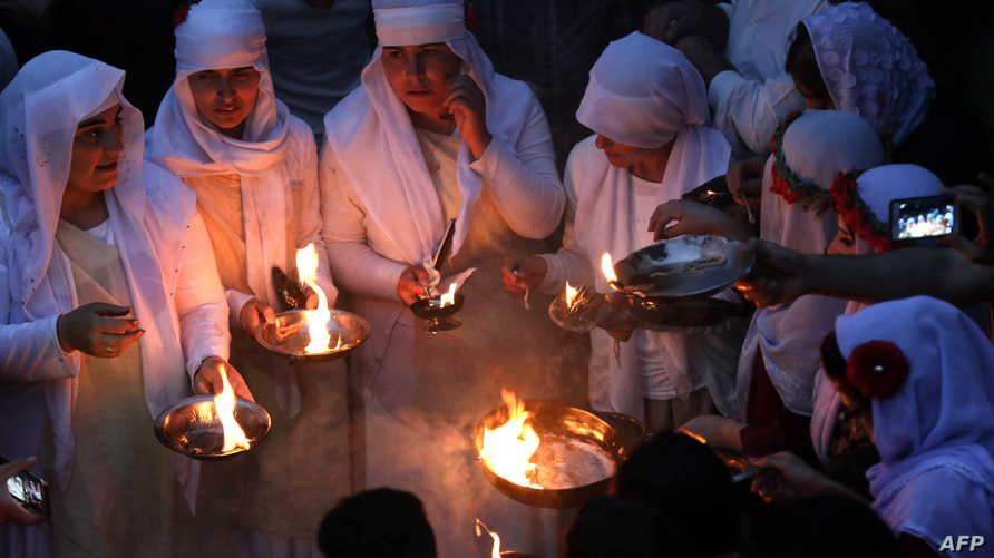 جانب من احتفالات الأيزيديين برأس السنة