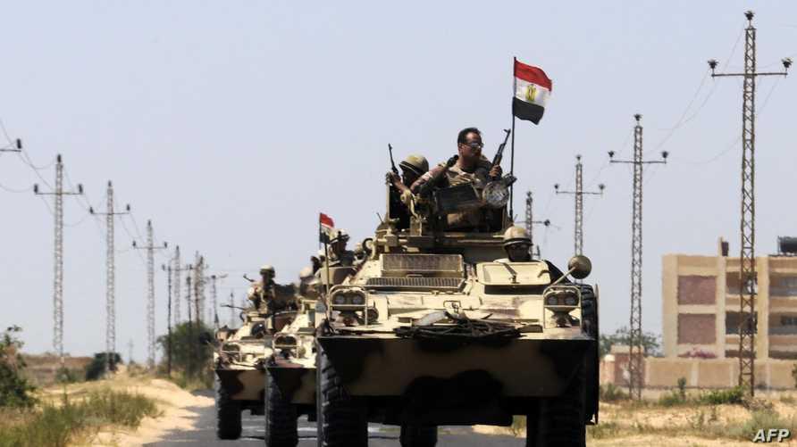 دبابات تابعة للجيش المصري في سيناء